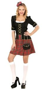 Scotswoman Scottish Burns St Andrews Scotland Tartan Fancy Dress Costume 14-16