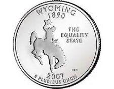 2007 - WYOMING  State Quarter / Philadelphia Mint / BRILLIANT UNCIRCULATED