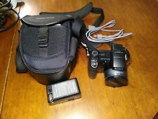 Sony Cyber-Shot DSC-H9 8.1MP Digital Camera W Bag Charger Transfer Cable Mini SD