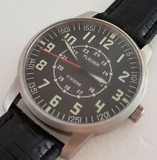 Rare FLIEGER manual winding wrist watch, Germany Made, Military model, 24 hours