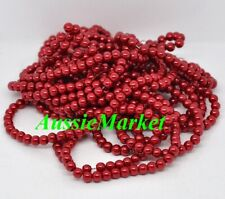 50 x glass beads red imitation pearl loose spacer 8mm ladies jewellery jewelry