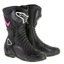 Alpinestars Stella SMX - 6 V2  Black/Pink Ladies / Women Motorcycle Riding Shoes