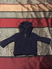 Baby Boy sz 3-6M jacket BABY GAP navy blue long sleeve zip up jacket