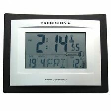 Precision AP046 Radio Controlled Digital LCD Wall Desk Clock Date Temperature