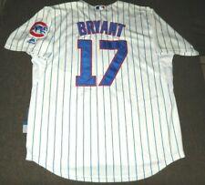 KRIS BRYANT CHICAGO CUBS MAJESTIC COOL BASE MLB BASEBALL SEWN JERSEY LARGE 50