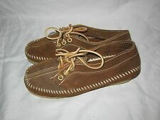 Gorgeous! Minnetonka Moccasins Brown Leather Ankle Moccasins Womens Size 5