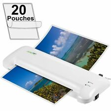 "Portable Thermal Laminator Machine w 20 Laminating Pouches 9"" for Home Office US"