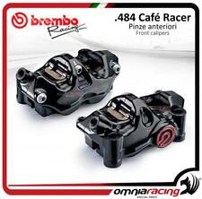 Brembo 2 pinzas freno Radial P4 32 CNC 484 INT 108mm Cafe racer kit SX+DX