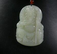 Certified Chinese 100% Natural Hetian Nephrite Jade pendant Guan Gong God 713520