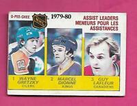 1980-81 OPC # 162 OILERS WAYNE GRETZKY ASSIST LEADERS VG CARD (INV# D1463)