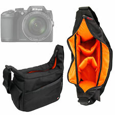 Black & Orange Shoulder Bag for Nikon Coolpix A300   A900   B500   B700 Cameras