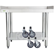 "24"" x 30"" Heavy Equipment Stand w/ Casters Stainless Steel Work Table Commercial"