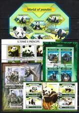 Ours Pandas lot de 10 séries oblitérés en feuillet