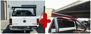 BLACK  Ladder Rack WITH Extension Bar for TOYOTA Hilux 2015-2021