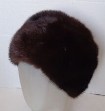 Vintage Dark Brown Mink Brimless Hat
