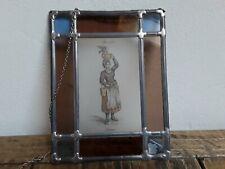 Fensterbild - Glas und Blei - Frau mit Korb ( 1 )