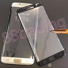 BLACK FRAME CURVE FIT TEMPERED GLASS SCREEN PROTECTOR FOR SAMSUNG GALAXY S7 EDGE