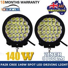 "2PCS 7"" 140W CREE LED DRIVING WORK LIGHTS SPOT FLOOD OFFROAD 4WD TRUCK LAMP 12V"
