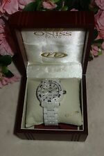 Oniss Paris Oversized HI TECH white Ceramic white dial swiss Watch NEW