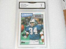 Herschel Walker GRADED ROOKIE CARD!! 1987 Topps #264 Cowboys HOFer! 7%-1