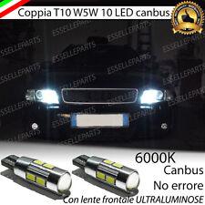 COPPIA LUCI DI POSIZIONE 10 LED AUDI A4 B5 T10 W5W CANBUS  NO ERROR 440 LUMEN