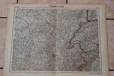 Ancienne carte Atlas universel Géographie 1919 N°12 France Est - Hachette