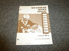 1972 Evinrude Sportster 25 HP Outboard Motor Shop Service Repair Manual
