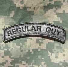 REGULAR GUY TAB ARMY USA MILITARY TACTICAL ACU DARK VELCRO® BRAND FASTENER PATCH