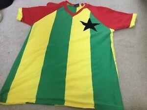 Ghana 1980s Retro Football Shirt Black Stars Accra medium adult