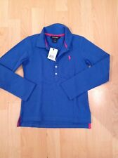 Polo Ralph Lauren Girl's Royal Blue Long Sleeve Polo Tshirt Size 7 Years BNWT
