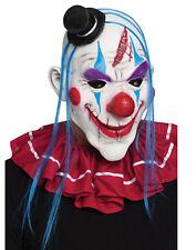 Pagliaccio Horror da Uomo Adulti Blu Jolly Maligno Latex Costume Halloween