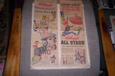 Quick Draw McGraw, Yogi Bear 2 Kellogg's Cereal Sunday Comic ads 1960,61