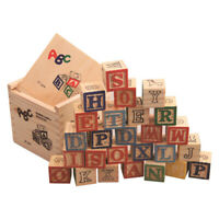 27Pcs Wooden Alphabet Letters Blocks Stacking Craft Kids Educational Toy Novelty