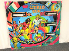 Williams World Cup Soccer Pinball Game Machine Backglass