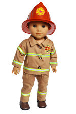 My Brittany's Fireman Outfit for 18 Inch American Girl Boy Doll Logan