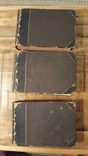 "Circa 1850-1880 - Art Teaching Books - 3 Volume Set (9"" x 6"") - No Printing Info"