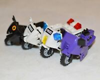 4x LEGO Motorbike Bundle Mixed Colours For Minifigures Motorcycle