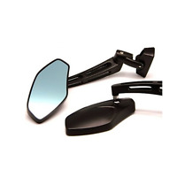 Black Aluminum Rear view Side Mirrors Motorcycle Sport Street Bike Custom Racing
