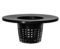 "6"" MESH NET POT LID for 3.5 & 5 GALLON HYDROPONIC BUBBLE BUCKET SYSTEM VIAGROW"