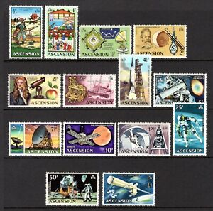 ASCENSION ISLAND 1971 SPACE TRAVEL sg135-148 MNH SET 1/2p TO £1 NOT CAT BY ME