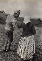 1915/72 Vintage 11x14 Man Woman PEASANT BILINSKI Hungary Photo Art ANDRE KERTESZ