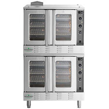 New Double Deck Liquid Propane Full Size Commercial Convection Oven Amp Legs 120v