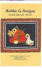 Thanksgiving Joyful Harvest Pumpkin Quilt Pattern Bobbie G Designs Price Reduced