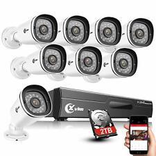 Xvim 8Ch 1080P Dvr Outdoor Night Vision Cctv Security Camera System 2Tb Memory