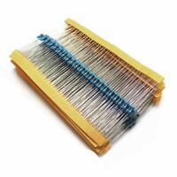 600pcs 30 Values Each Value Metal Film Resistor Pack 1/4W 1% Resistor Kit
