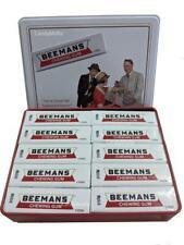 Beeman's Gum Classic Chewing Gum - 10 packs 5 Sticks in Vintage Collectors Tin