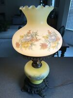 Vintage L&L WMC 1971 Hurricane Parlor Electric Table Lamp Gone With The Wind