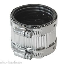 "Fernco 2"" Shielded Cast Iron Soil Pipe No-Hub Coupling Coupler Connector"