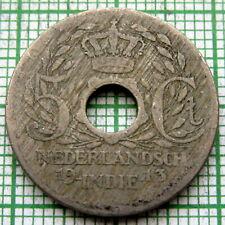 NETHERLANDS EAST INDIES - INDONESIA WILHELMINA 1913 5 CENTS
