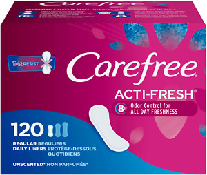 Acti-Fresh Panty Liners Soft And Flexible Feminine Care Protection 120 Count NEW